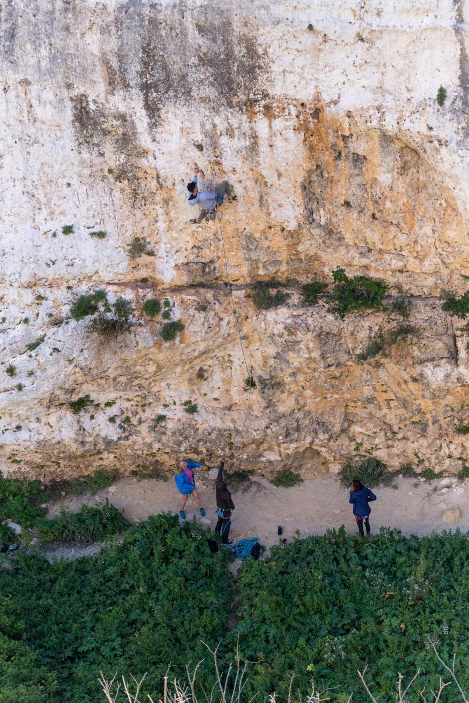 Climbing at Dream Walls, Mġarr ix-Xini