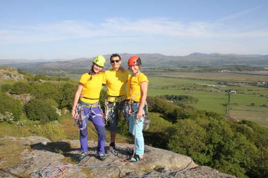 Eveline, Steve and host Hillary at Tremadog