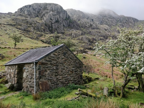 This was our hut, an offshoot of the climbers club, comforts included a warm bunk bed, a living room jammed pack with climbing gear and enough tea to inebriate an English man.